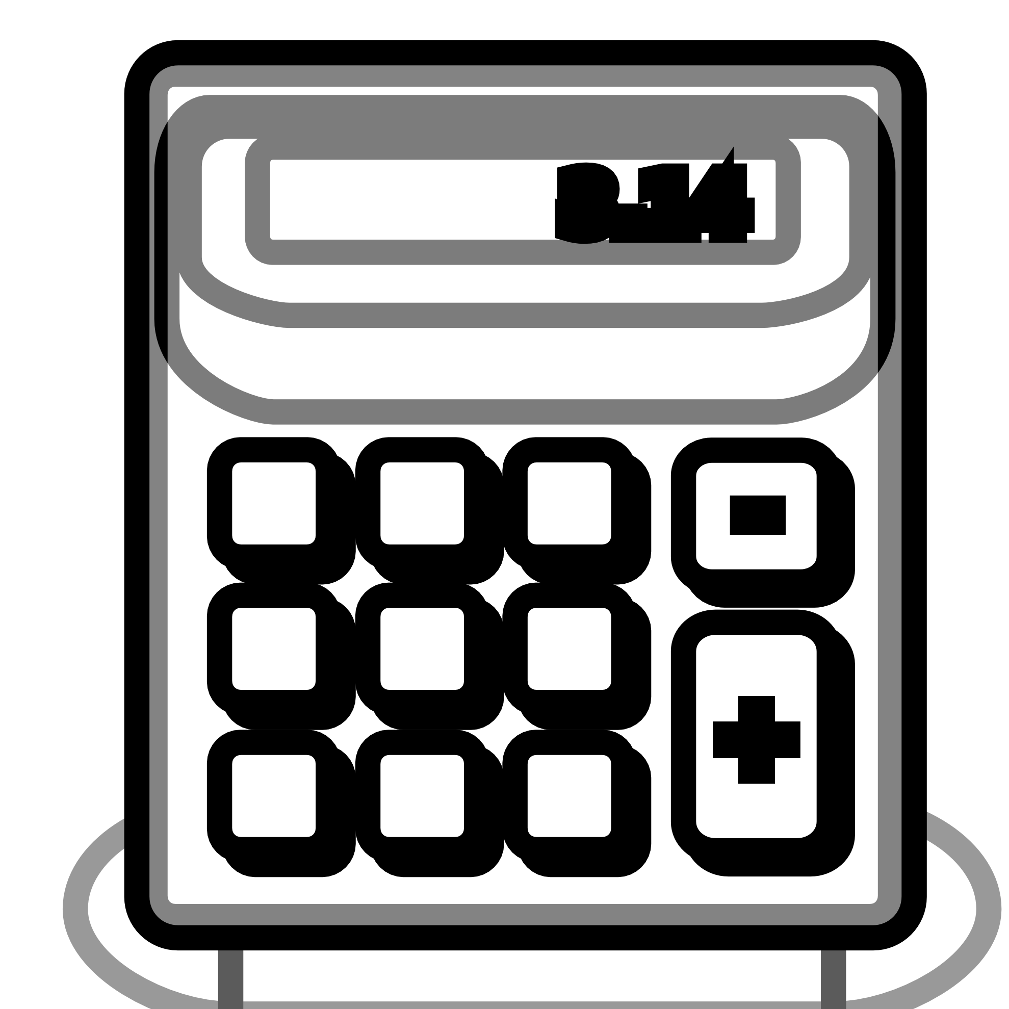 banner black and white stock Calculator Clipart Black And White