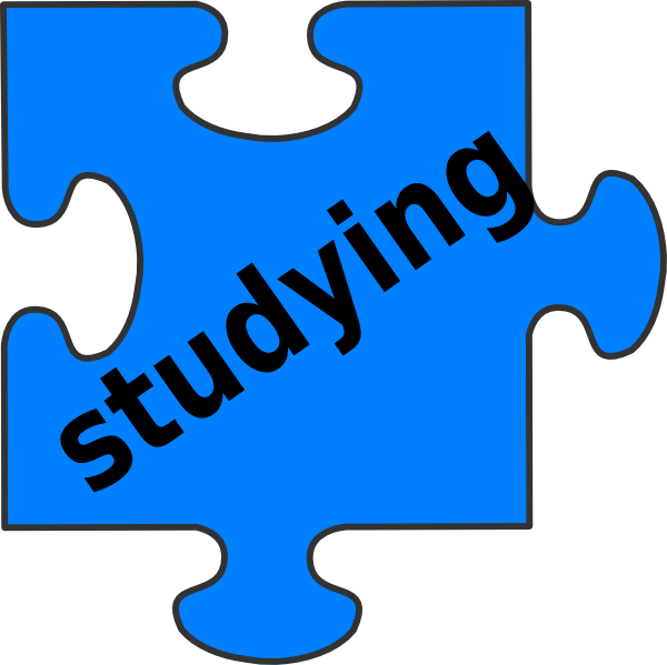 jpg transparent library Studying Puzzle Piece Clip Art at Clker