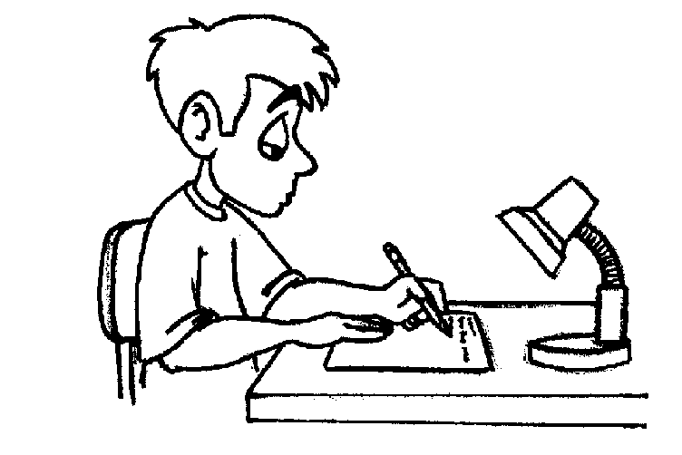 clip library library Writer clipart writ. Studying black and white
