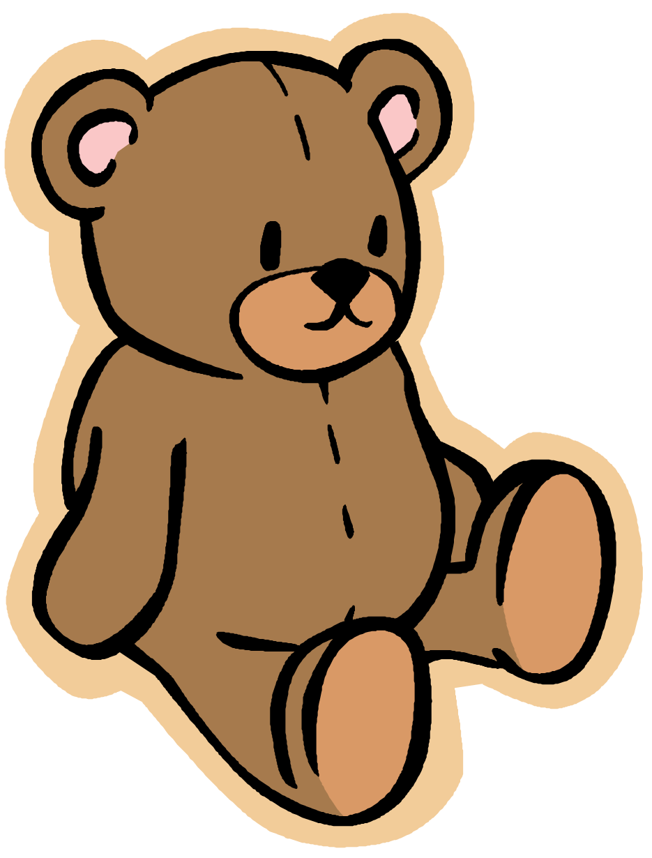 vector freeuse library Stuffed animal clipart. Teddy bear transparent png