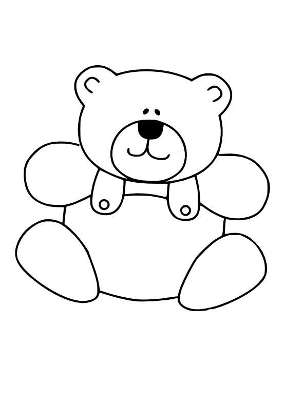png transparent download Teddy bear black and white clipart. Line art christmas xmas