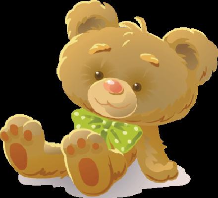 clipart transparent stock Girl teaches toys the. Teddy bear clipart images