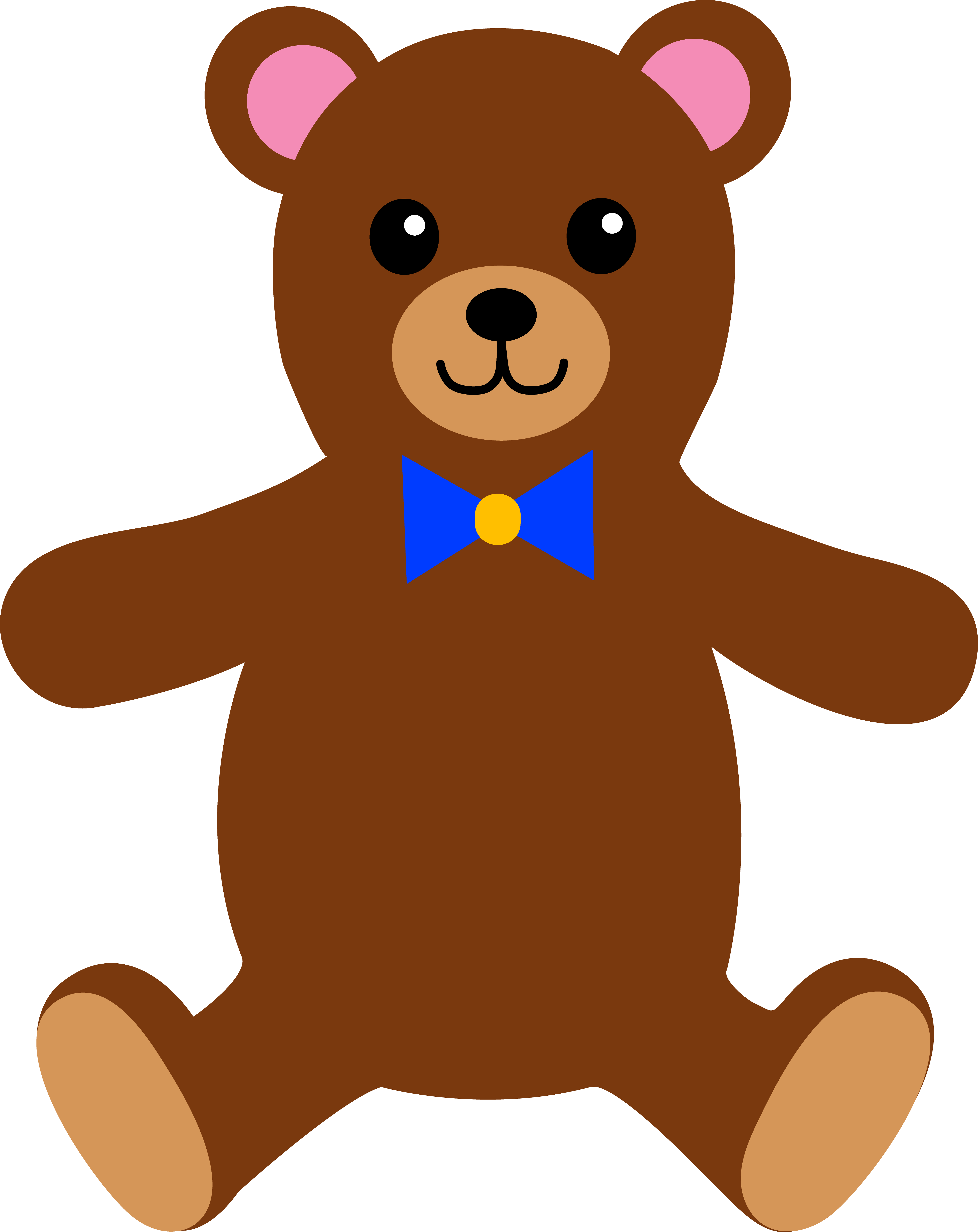 clip art freeuse library Teddy bear clipart free. Childrens stuffed clip art