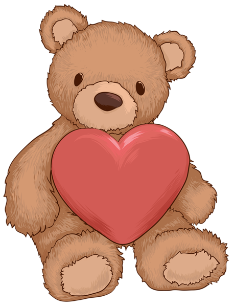 clipart transparent library Clipart teddy bear. With heart png clip