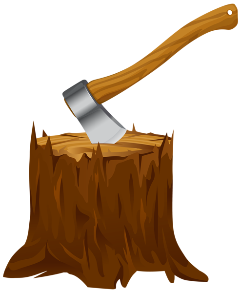 jpg Stump clipart. Tree with axe png