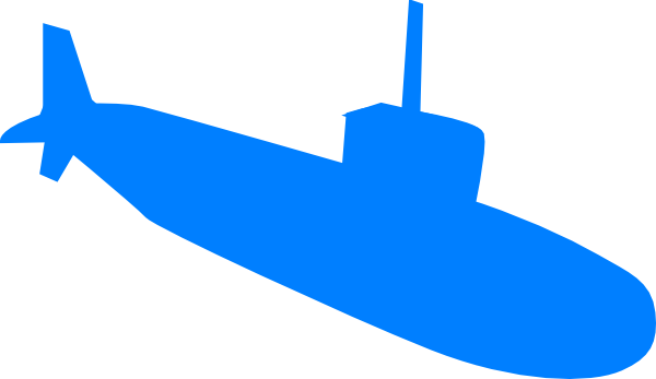 graphic black and white library Submarine vector. Clip art at clker