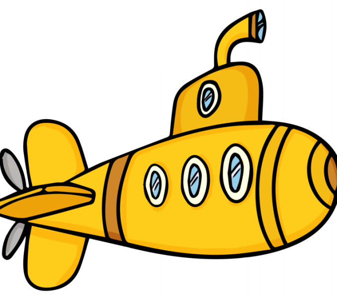 jpg stock Cartoon coloring page best. Submarine clipart black and white