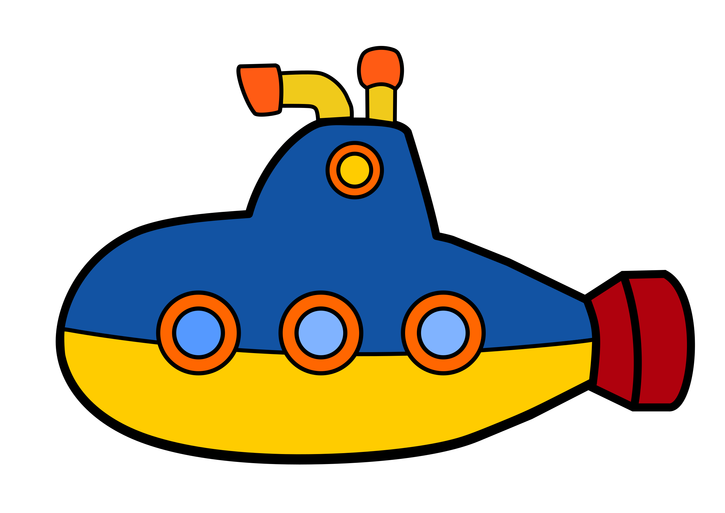 png free download Submarine clipart black and white. Toy sub by ejmillan