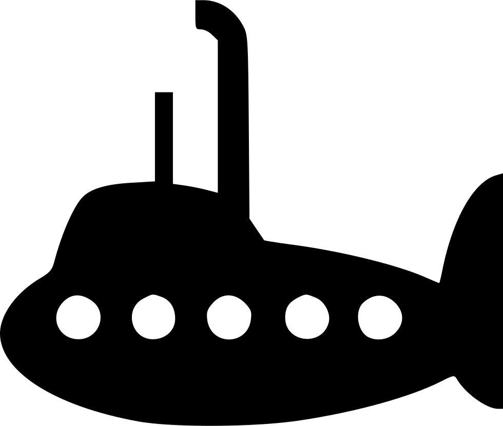 vector transparent Submarine PNG