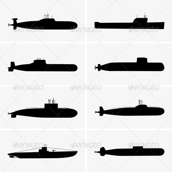 image stock Submarine vector. Submarines graphicriver design