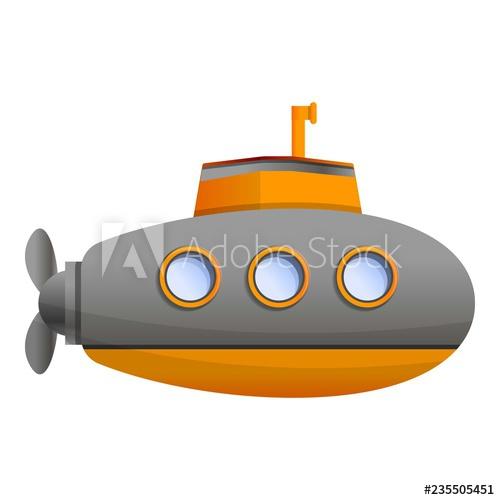 jpg stock Submarine vector. Ocean icon cartoon of