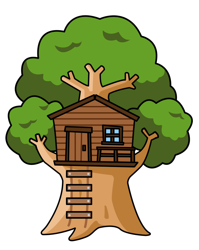 banner royalty free download tree house clipart #64916716