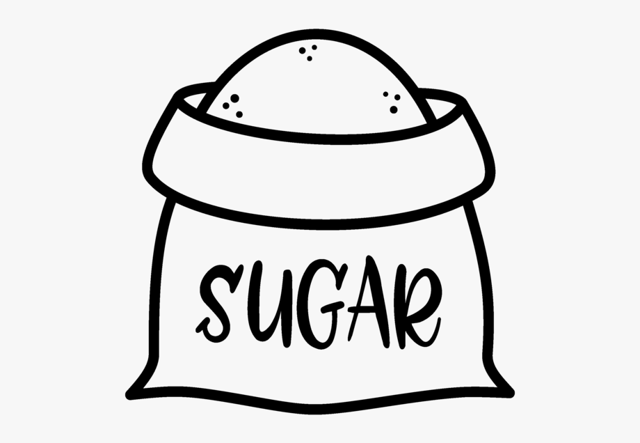 banner transparent download Black and white free. Sugar clipart