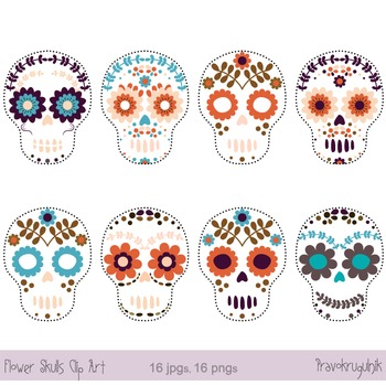 clip free download Day of the dead. Sugar skull clipart