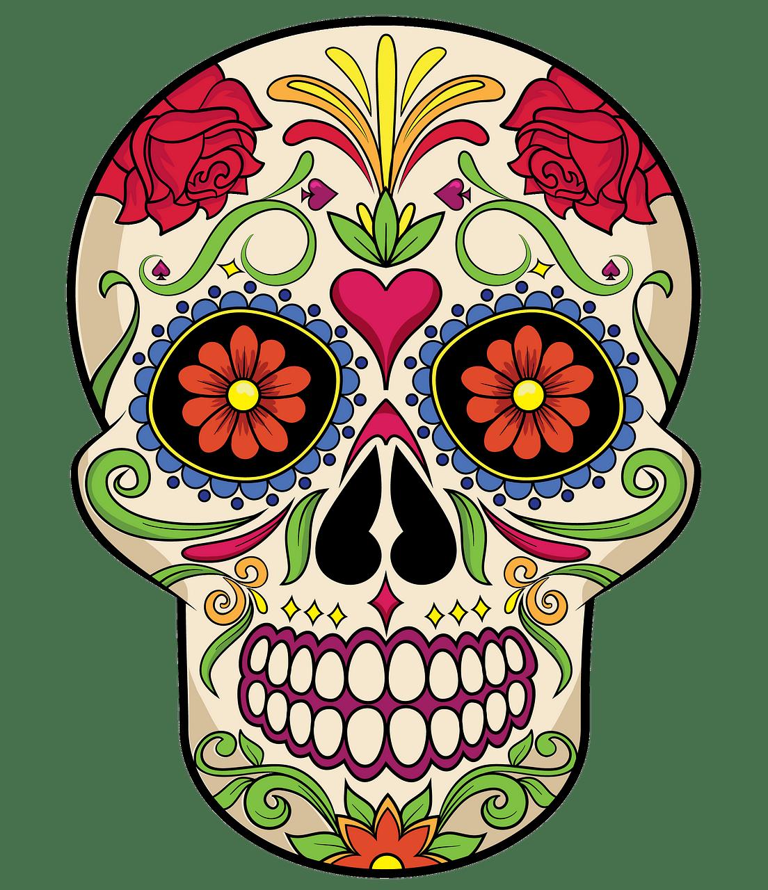 clip art transparent download Sugar skull clipart. Free download creazilla