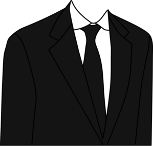 banner black and white library Black Suit Clip Art at Clker