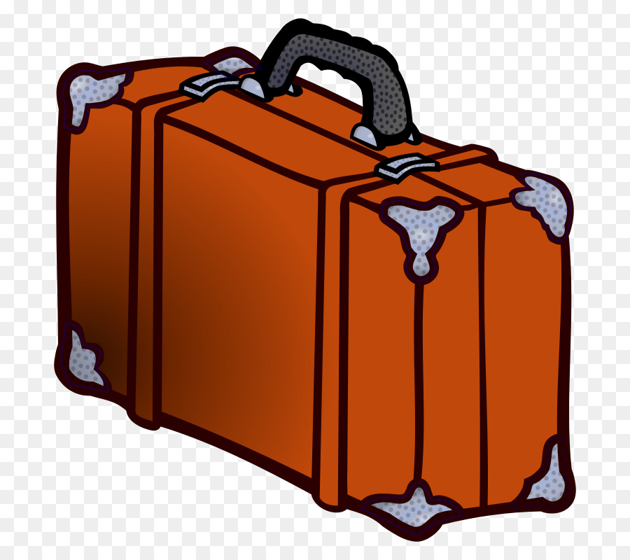 png black and white library Cartoon travel orange . Suitcase clipart