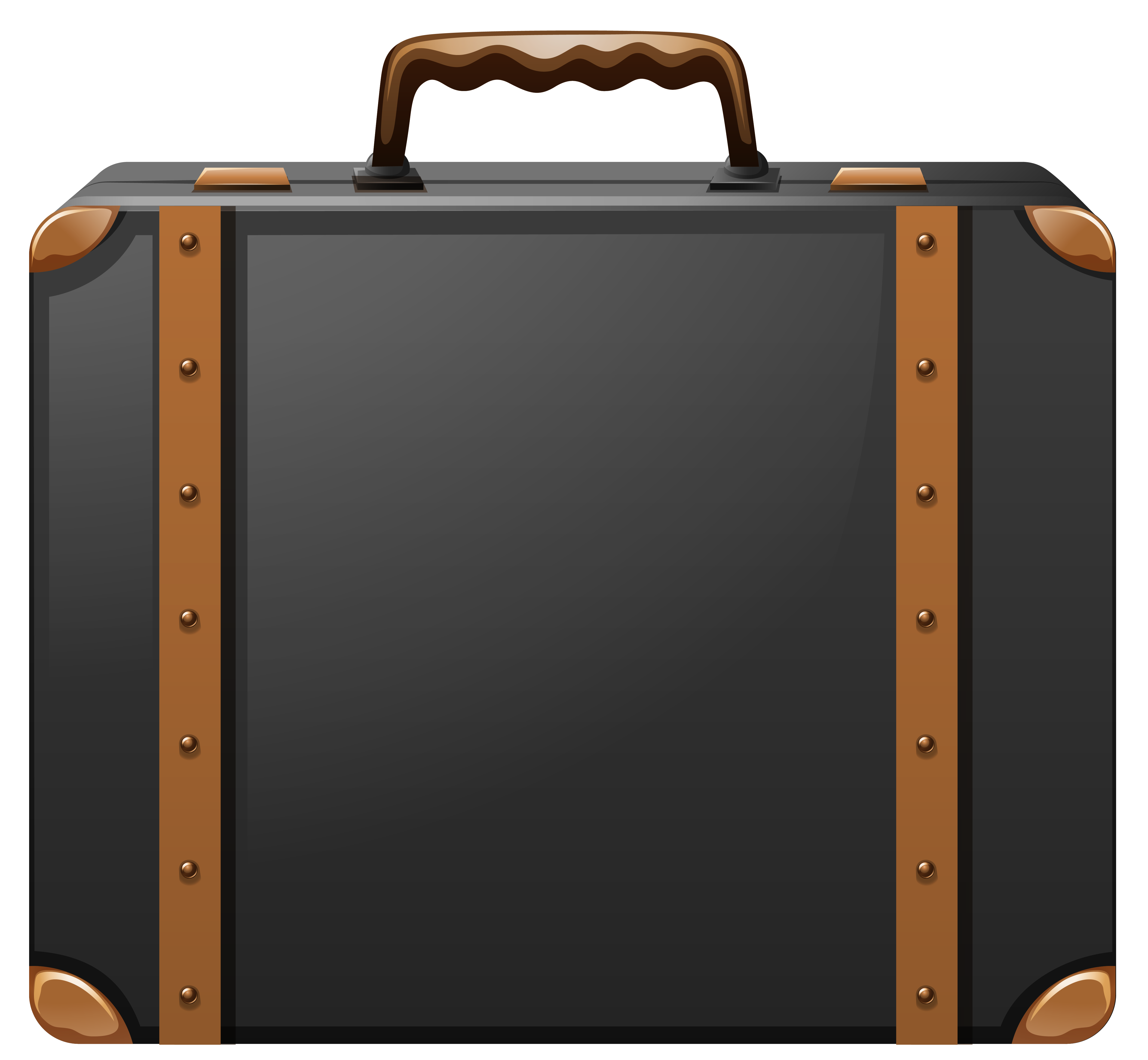 banner free stock Briefcase clipart transparent background. Black and brown suitcase