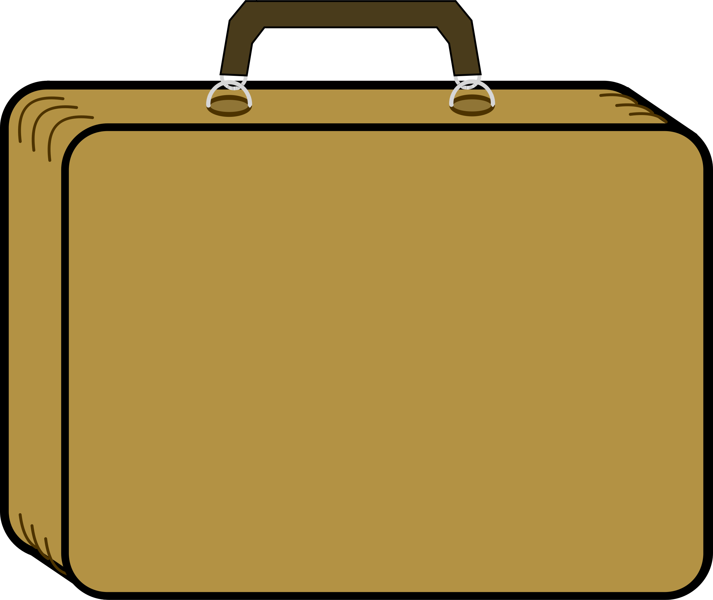 graphic black and white stock Suitcase clipart. Packing vintage free image