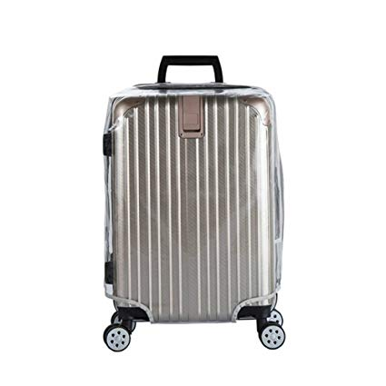 graphic Suitcase transparent. Luggage cover clear pvc.