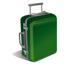 graphic free stock Trolly luggage icon png. Suitcase transparent background.
