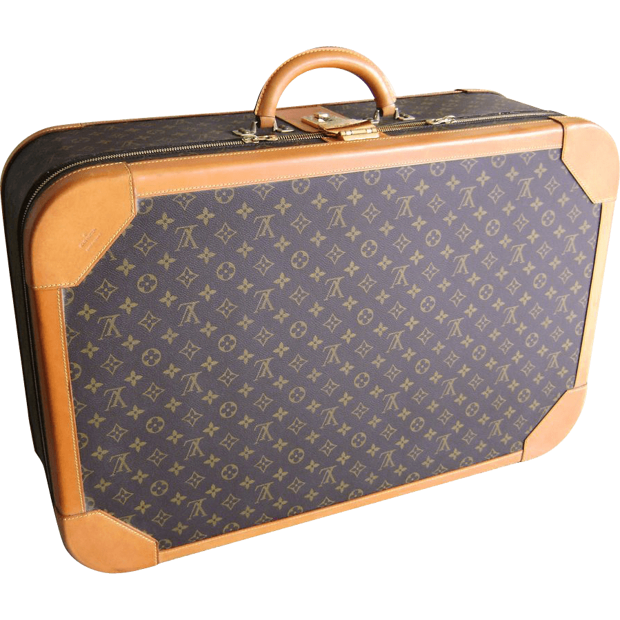 clip black and white Vuitton Suitcase transparent PNG