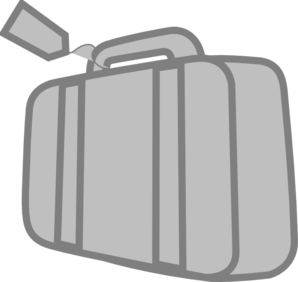 graphic black and white stock Grey Travel Suitcase Clip Art at Clker