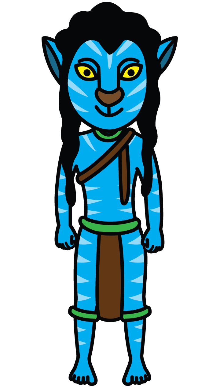 clip free library Avatar Jake Sully drawing tutorial http