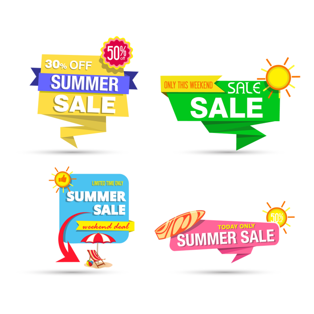 clipart black and white library Summer graphics banner design. Element vector
