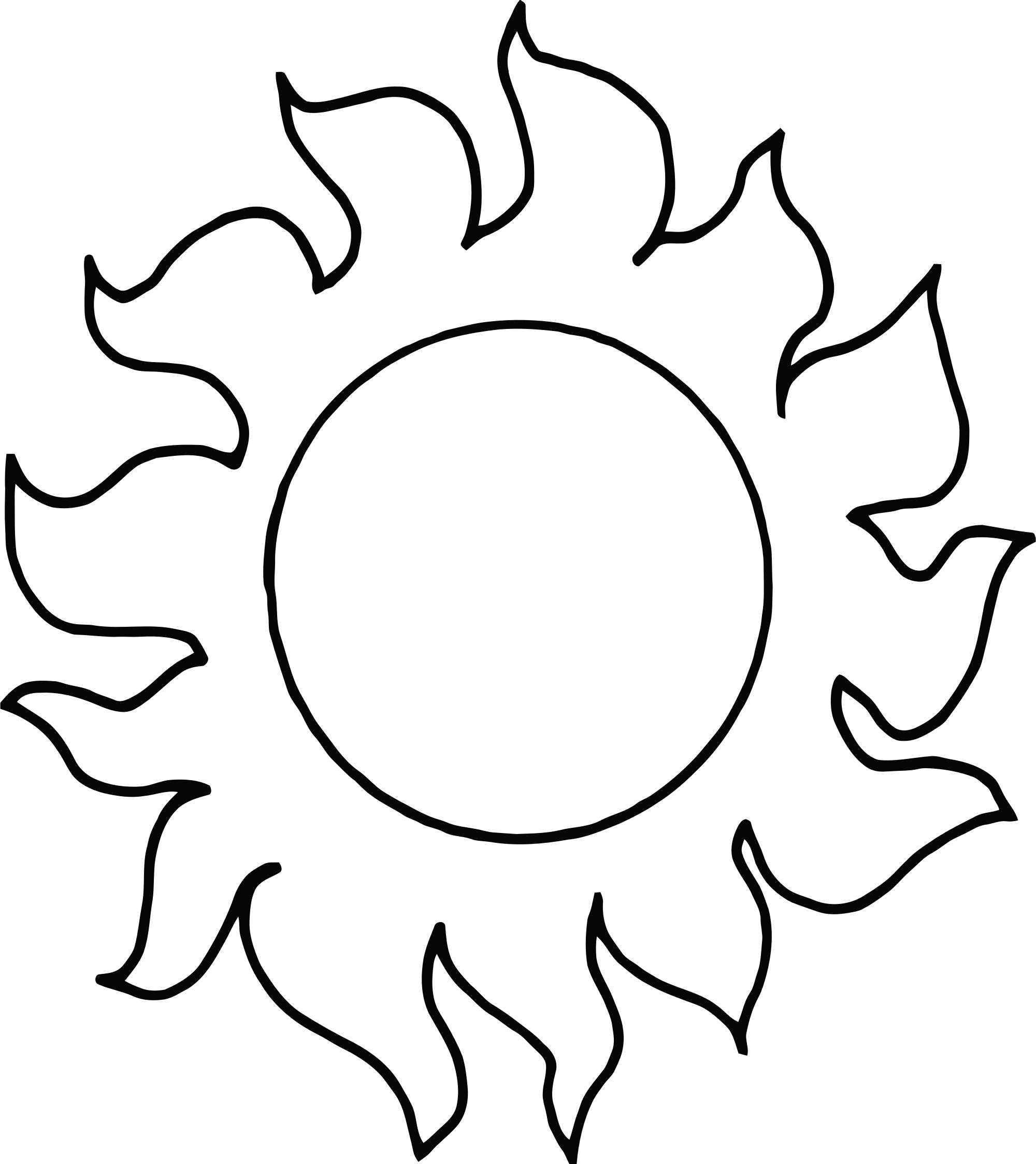 clip free library Drawing of the sun. Sunset clipart black and white