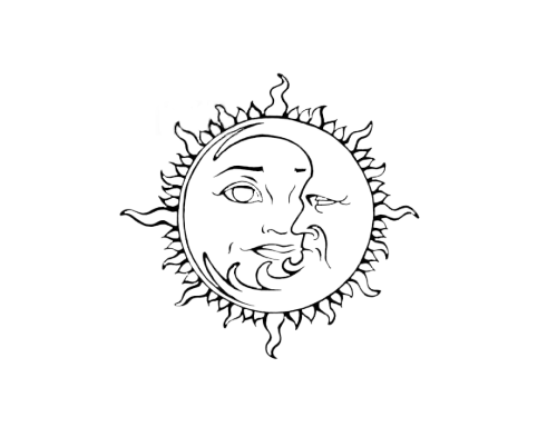 graphic royalty free stock Sun moon stars clipart black and white. Tumblr png google stuff