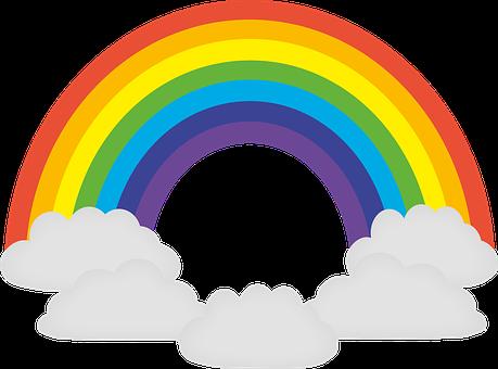 jpg library stock Sunshine And Rainbow Clipart