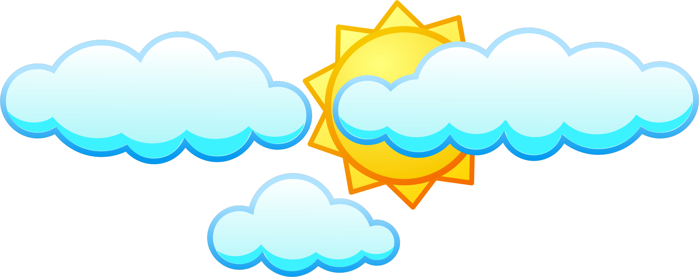 picture transparent download sun with clouds clipart #61368722