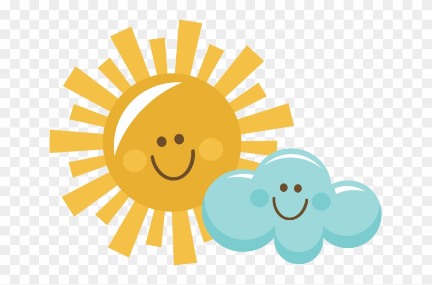 clipart And happy png . Sun with clouds clipart