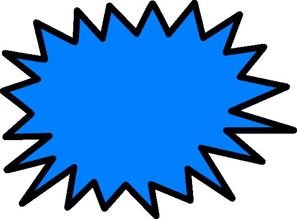 clip art Sunburst clip art at. Burst clipart blue starburst.