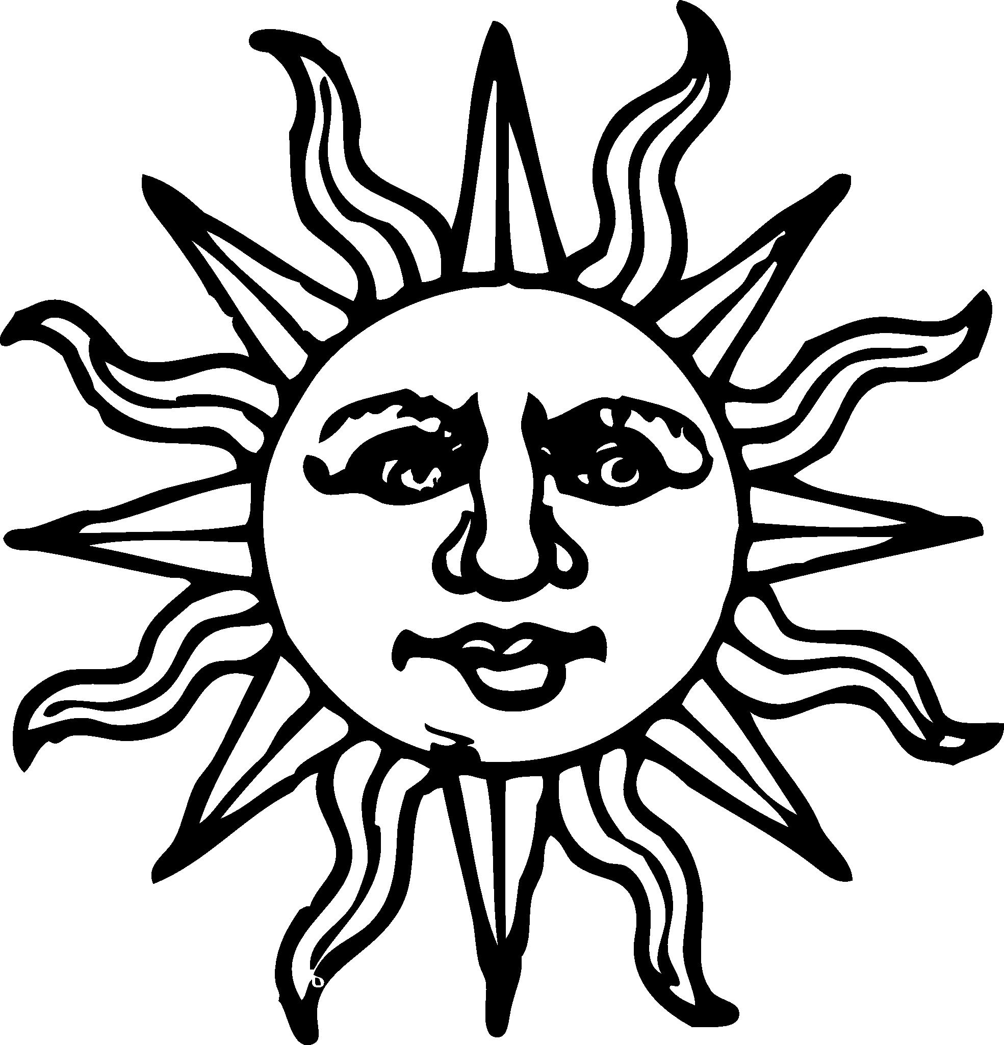 png transparent stock Sunburst clipart black and white. Sun woodcut line art