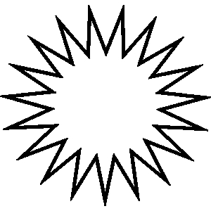vector black and white download Free download best on. Sunburst clipart black and white