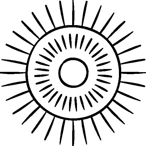 clip transparent download Collection icon . Sunburst clipart black and white