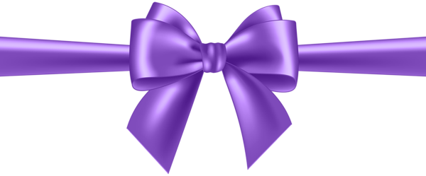 svg transparent Purple Bow Transparent Clip Art