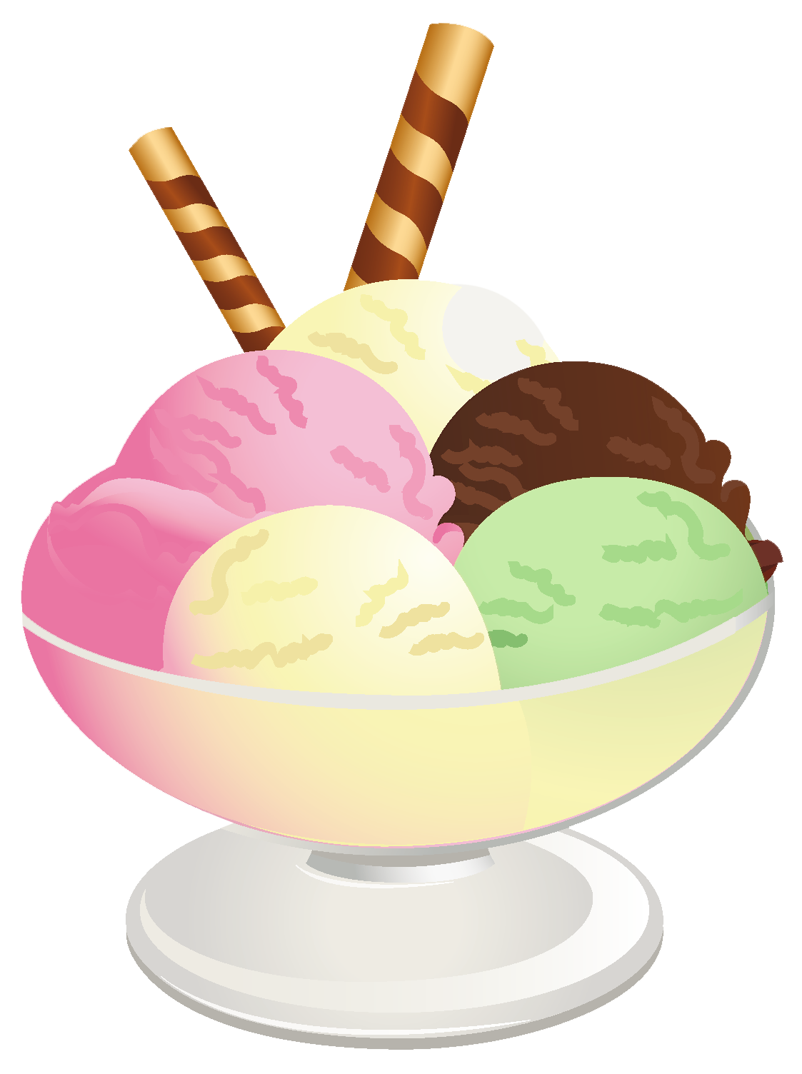 vector freeuse Ice Cream Sundae PNG Picture