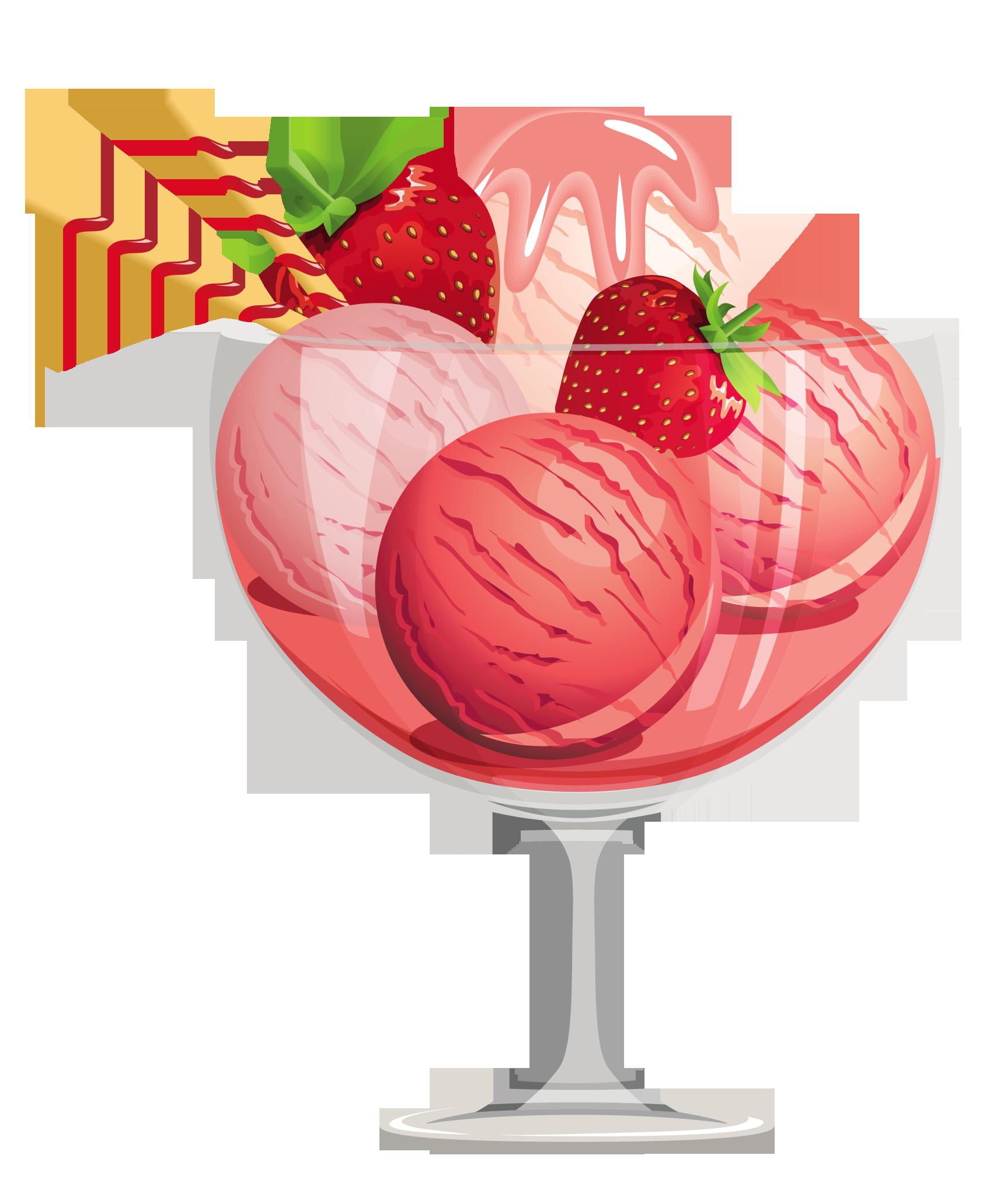svg black and white download Sundae clipart craem. Strawberry ice cream gallery