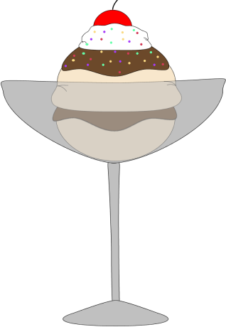 clipart royalty free download Sundae clipart glass. Clip art image