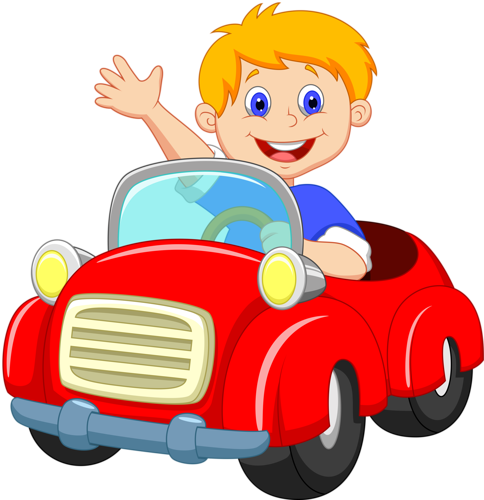 clipart black and white Cars boy driving red. Boys clipart car