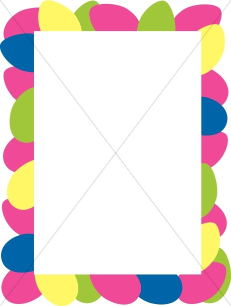 banner library stock Border easter . Colorful borders clipart