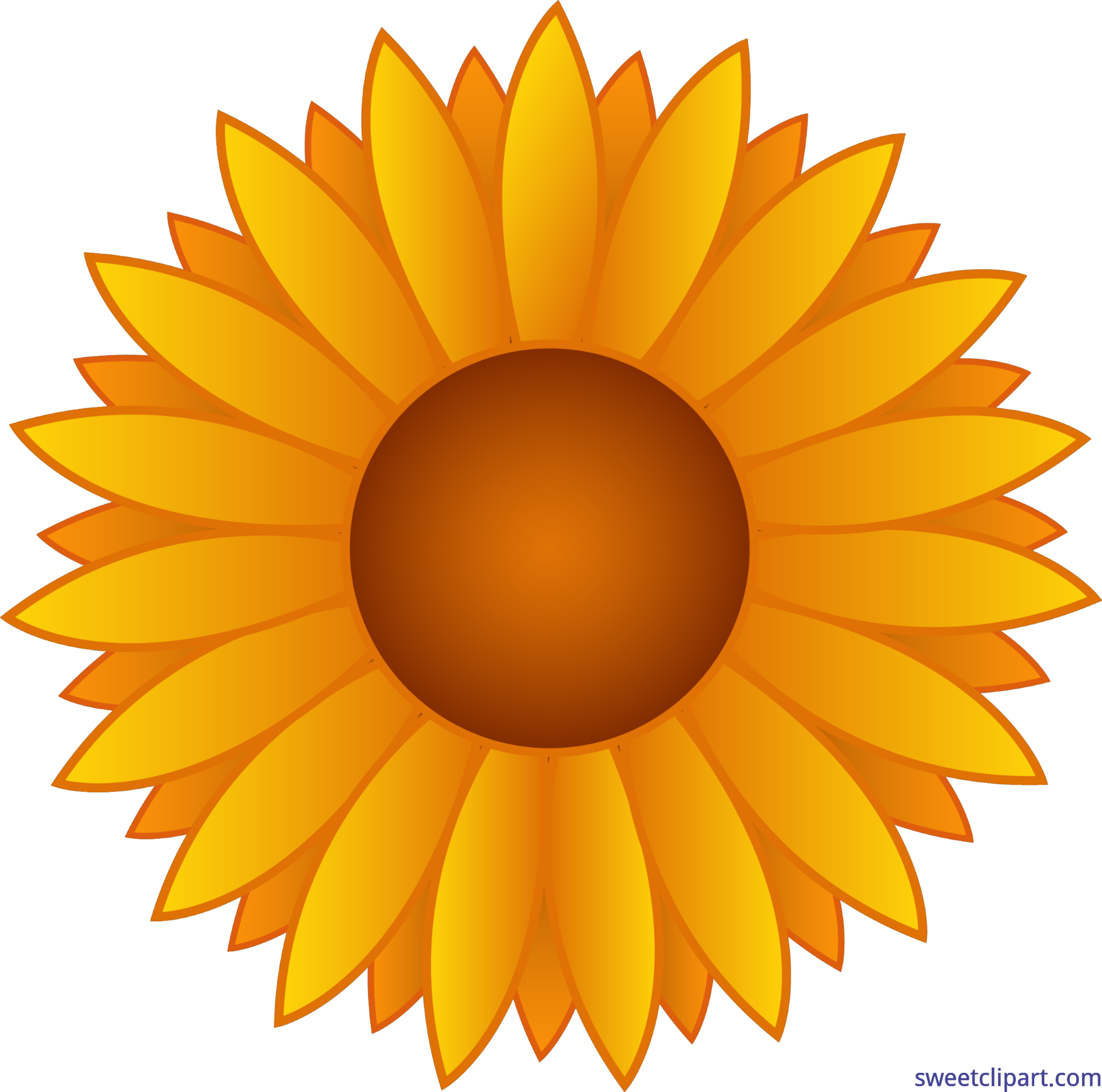royalty free stock Flowers yellow sunflower clip. Sunflowers clipart rose