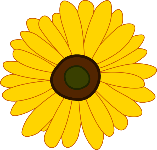 graphic transparent Sunflowers clipart. Cute free