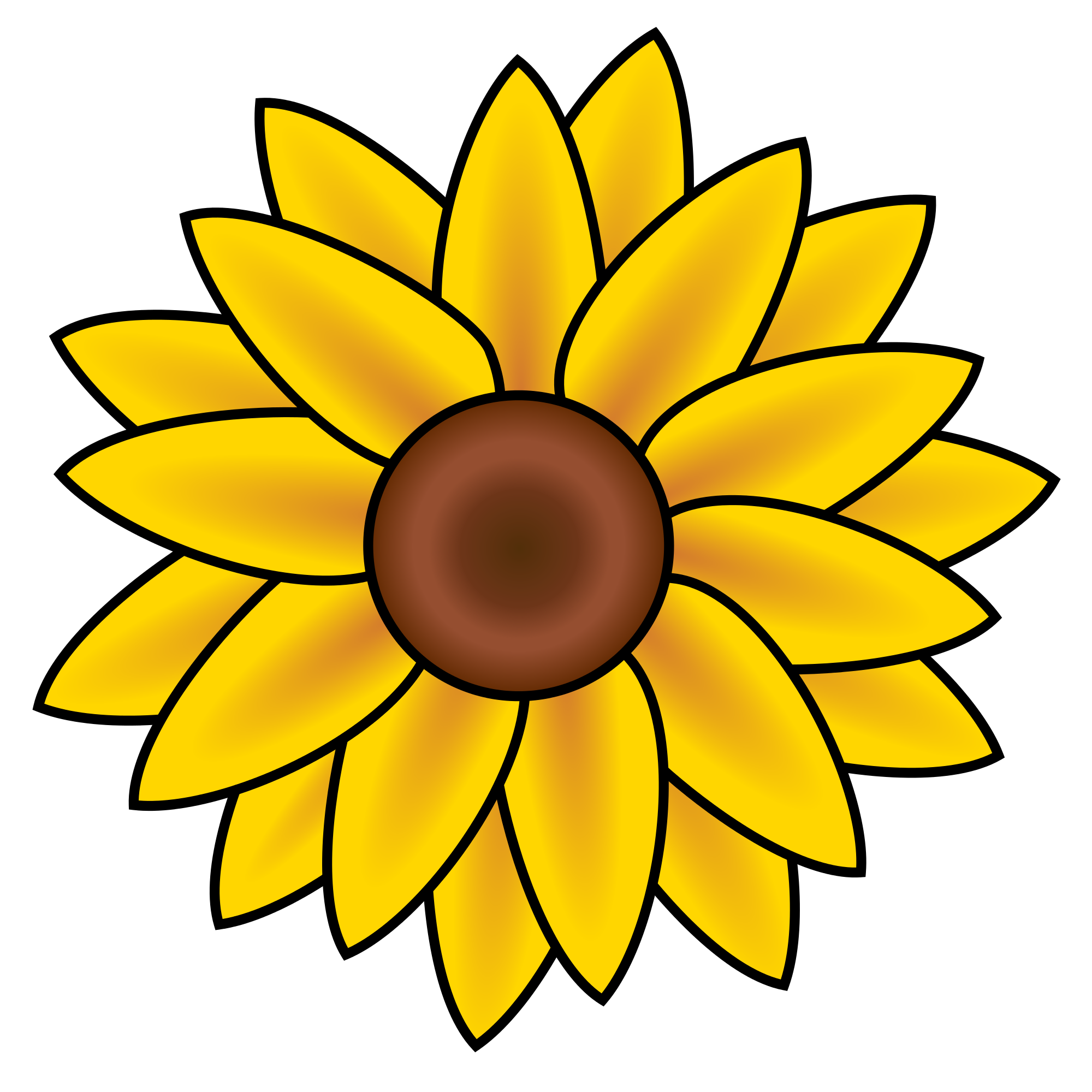 svg royalty free library File sunflower clip art. Sunflowers clipart public domain