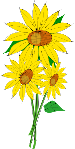 png transparent library Sunflowers clipart rose. Clip art at clker