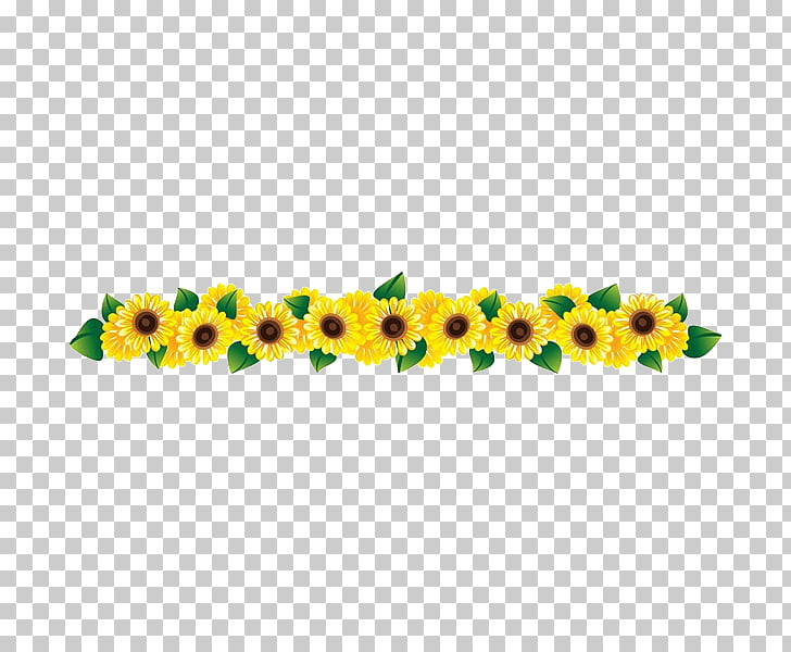 jpg free stock Common sunflower a row. Sunflowers clipart swag.