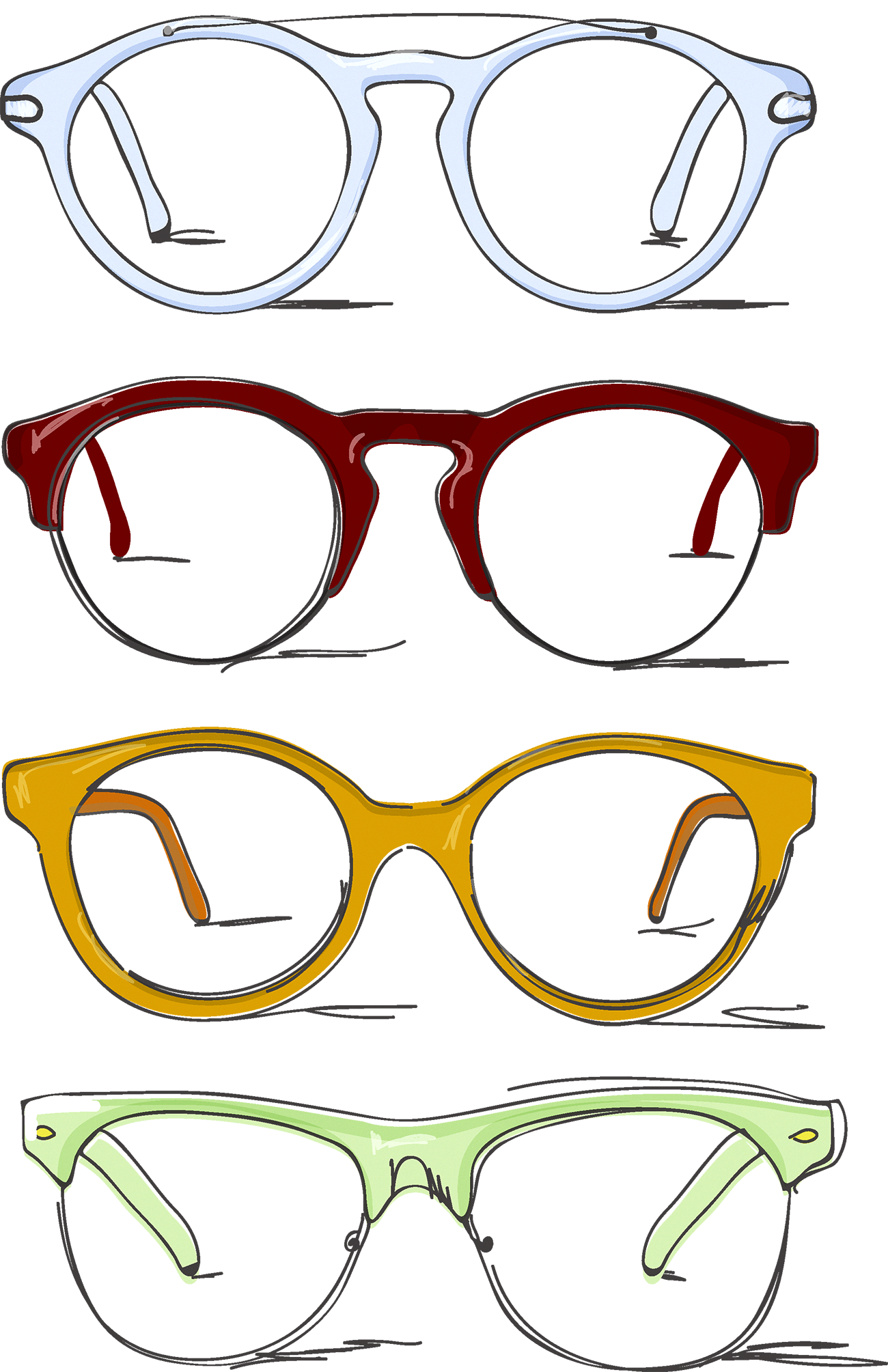 png download Browline glasses Drawing Clip art
